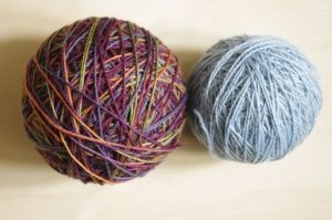 Softness and beauty — Lorna's Laces on the left, Isager on the right
